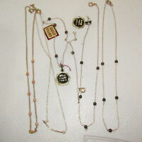 Vintage Gold Filled Necklace LOT New Old Stock Chain 5 Piece