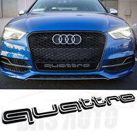 QUATTRO GRILL BADGE AUDI LATEST Fit-a1 a3 a4 a5 a6 s3 s4 s5 rs3 rs5 rs6 q3 q5 q7