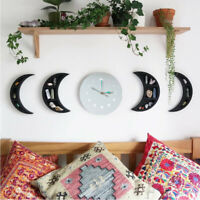 Moon Phase Wooden Luminous Wall Clock Cycle Ornament Home Decor