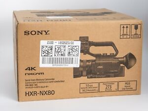 [DHL] Sony HXR-NX80 4K NXCAM with HDR & Fast Hybrid AF Camcorder (Brand New)