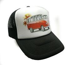 VW bus Hat trucker hat black vintage Volkswagon surfer hat beach hat  snapback e0c9b3b5391c