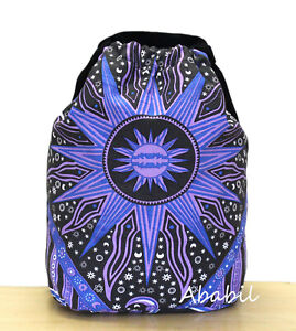 New Cotton Multicolor Unisex Backpack Bags With Adjustable Shoulder Strap Throw