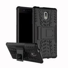 Carcasa híbrida 2 piezas Exterior Negro Funda para Nokia 2 Protección Cubierta