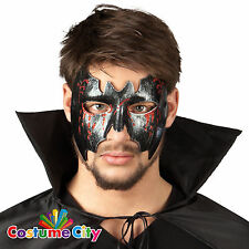 Adults Gothic Black Vampire Bat Masquerade Mask Halloween Fancy Dress Accessory
