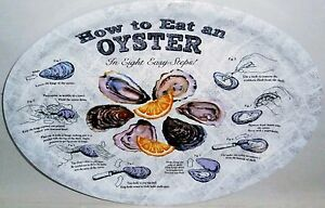 HOW TO EAT AN OYSTER In Eight Easy Steps Platters 4 Ct