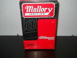 Mallory Ignition 221A  Distributor Cap With No. 500-318 Rotor New In Box