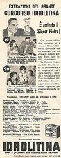 W8818 Estrazione del Concorso IDROLITINA - Pubblicità del 1958 - Vintage advert