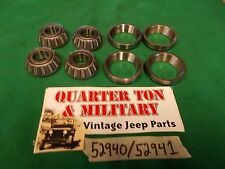 Jeep Willys MB GPW CJ2A 3A M38 38A1 Steering King Pin bearing economy kit