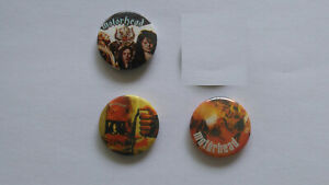 Motorhead music buttons vintage SMALL BUTTON set 6