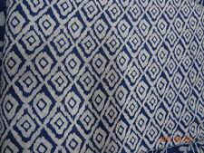"44"" Wide Cotton Running Fabric Block Printed Indian Craft Indigo 10 Yard IF7"