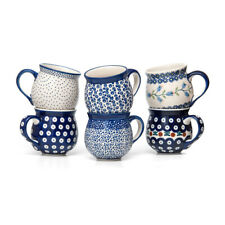 Bunzlauer Keramik Kugelbecher 200 ml 6er-Set Handbemalt