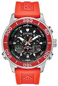 Citizen ProMaster Sailhawk Eco DR Black Dial Rubber Band Men's Watch JR4061-00F
