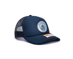 Manchester City Trucker Snapback Baseball Hat Shield Officially Licensed Fan Ink
