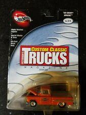 2002 100% Hot Wheels Custom Classic Trucks Magazines Series 59 Chevy Apache #3/4