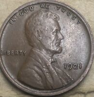 1921 -P Very Fine Philadelphia Lincoln Wheat Penny. Die Crack On Reverse.
