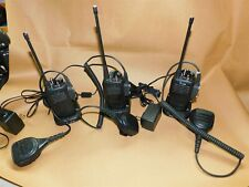 ICOM UHF Transceiver Hand Held Radio IC-F2000 with Charger and Microphone 3 sets