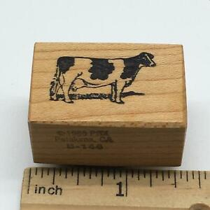 PSX Dairy Cow Rubber Stamp Vintage 1988 HTF