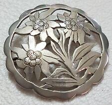Große Jugendstil Brosche 900 Silber mit Punze