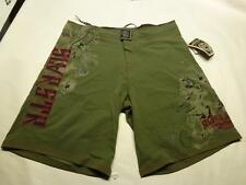 New Silver Star Stack  Em Up MMA Fight Shorts Army Green Board shorts 34