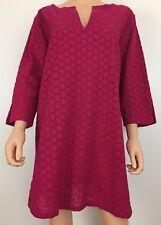 Talbots size L XL pink eyelet cotton tunic 3/4 sleeved