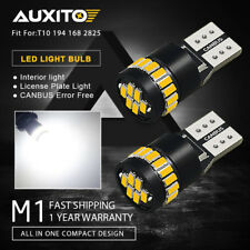 AUXITO 2x T10 CANBUS Car LED License Plate Light Bulbs 6000K White 194 2825 168