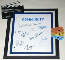 COMMUNITY SIGNED TV PILOT SCRIPT CHEVY CHASE  JOEL McHALE  GILLIAN JACOBS