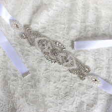 Bridal Wedding Party Dress Accessories Rhinestone Girdle Decor Belt Access
