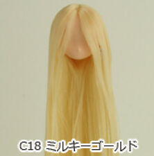 Obitsu Doll 11cm hair implantation head for natural body (11HD-F01NC18) M Gold