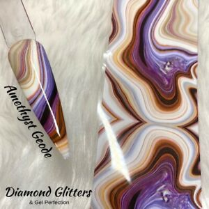 Nail Transfer Foil 1m Geode/Marble Full Coverage Nail Art Amethyst Geode