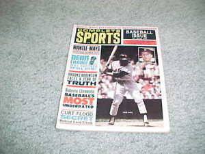 1965 Complete Sports Baseball Magazine Mickey Mantle Willie Mays Cover