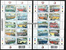 2011 Malta Buses Complete Set of 20 Stamps Sheetlet Mint MNH Cat Val $35