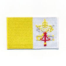30 x 20 mm Rom Vatikanstadt Papst Kirche Flagge Aufnäher Aufbügler 0976 Mini