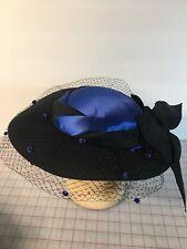 Vintage Whittall & Shon Ladies' Wide Brim Veiled Hat