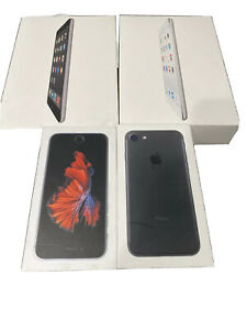 4 Apple Boxes Original Apple Retail Packaging BOX ONLY. iPhone 6,7 2 iPad Mini 2