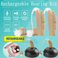 Sound Voice Amplifier Kit Rechargeable Behind The Ear Digital Hearing Aid Aids
