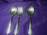 Flatware Salad Fork, Salad & Slotted Spoon Farberware Regal Stainless Korea