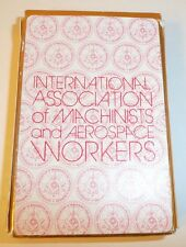 Deck of Playing Cards International Association of MACHINISTS AEROSPACE Workers