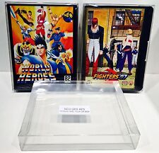5 Box Protectors for NEO GEO AES Game Boxes  Standard / Clamshell  Read Cases