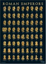 More details for roman emperors from coinage poster a3 (29.7cm x 42cm) [repa3]