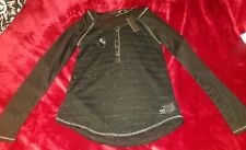 Miss Me long sleeve Black Top Size Small