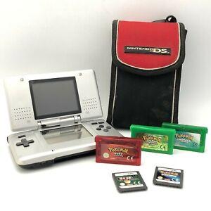 Nintendo DS Handheld Original Model No NTR-001 Plus Pokemon Games x4 18120 CP