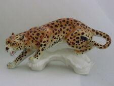 """Vintage Huge Karl Ens Leopard Porcelain Ceramic Figurine Sculpture Germany 16"""""""