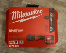 Milwaukee Short Throw Press Tool Kit w/ Crimp Jaws 2674-22C New in Box