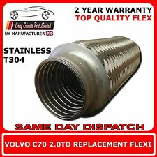 Volvo C70 2.0TD 2006 Onward Weld On Exhaust Replacement Flex Flexi For Cat Pipe