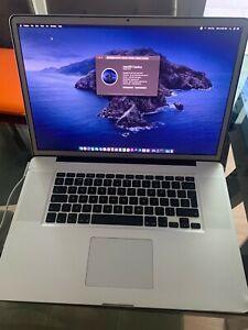 Apple Macbook pro 17 early 2011 128GB SSD & 2nd HDD Anti-Glare
