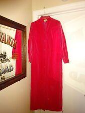 VTG 60S HOVLAND SWANSON Ynasty Rose Small Robe Feels Like Velvet Button Front