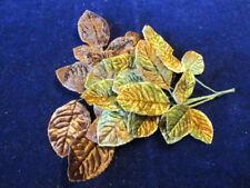 """Vintage Velvet Millinery Flower Collection 1 1/ 2-2""""  Brown Green Japan H2236"""