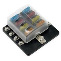 8-Way 32V  Blade Fuse Box Fuse Block Holder with Fuses for 12V 24V Car Marine
