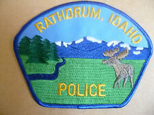 Patches: RATHDRUM IDAHO USA POLICE PATCH (NEW* apx. 11.5x8.5 cm)