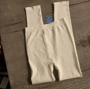 Free People Ribbed Leggings. NWT. Size M/L. Retail- $128
